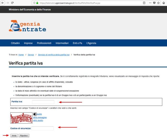 Controllo Online Partita Iva Vat Trick It